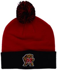 Top Of The World Maryland Terrapins 2 Tone Pom Knit Hat