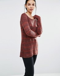 Vero Moda Striped Jumper Decadent Chocolate Brown