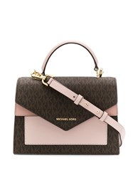 Michael Michael Kors Medium Logo Satchel Pink