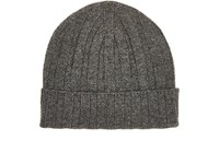 Barneys New York Men's Ribbed Cashmere Cap Grey