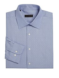 Ike By Ike Behar Geometric Dress Shirt Blue
