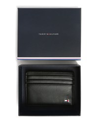 Tommy Hilfiger Black Eton Leather Card Wallet