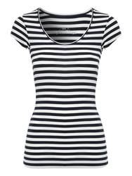 Jane Norman Deep Hem T Shirt Navy
