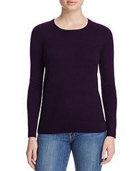 Bloomingdale's C By Crewneck Cashmere Sweater Eggplant