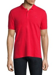 Armani Jeans Pique Polo Red