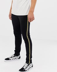 Brooklyn Supply Co. Co Super Skinny Black Jean With Side Taping