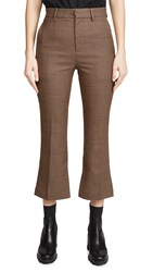 Edition10 Plaid Trousers Brown Black