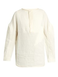 J.W.Anderson Stonewashed Linen Top White