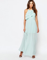 Bcbgeneration Ruffle Maxi Dress Aqua Sky Green