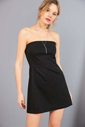 Silence And Noise Strapless A Line Mini Dress Black