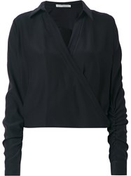 Martha Medeiros Wrap Andrea Shirt Black