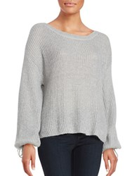 Ella Moss Tie Sleeve Sweater Grey