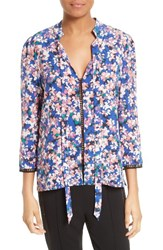 Tracy Reese Women's Print Silk Blouse