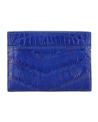 Walter Steiger Crocodile Card Holder Royal Blue