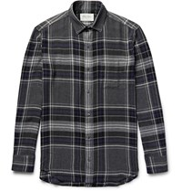 Public School Checked Flannel Shirt Gray