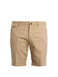 Incotex Slim Leg Cotton Blend Shorts Beige