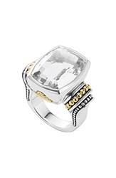 Lagos Women's 'Caviar Color' Large Semiprecious Stone Ring White Topaz