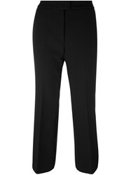 Msgm Flared Cropped Trousers Black