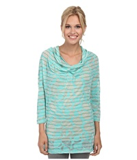 Lole Sheer Top Turquoise Gelato Women's Long Sleeve Pullover Green