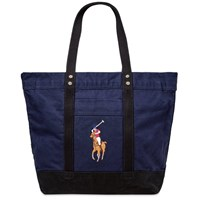 Polo Ralph Lauren Multi Player Canvas Tote Blue