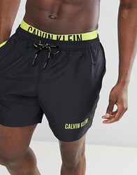 Calvin Klein Intense Power Swim Shorts With Double Waistband Black