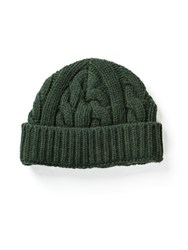Oliver Spencer Cable Hat In Green