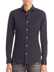 Polo Ralph Lauren Slim Fit Button Front Shirt Polo Black