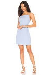 Line And Dot Brynn Tied Back Dress Baby Blue
