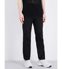 Mhi Dragon Embroidered Cotton Trousers Black