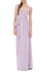 Women's Ceremony By Joanna August 'Lacey' Ruffle Wrap Chiffon Gown Moondance