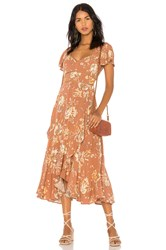 Spell And The Gypsy Collective Rosa Garden Party Dress Brown