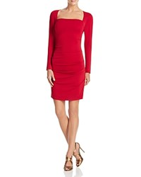 Nicole Miller Ruched Side Dress Red