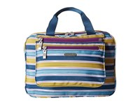 Baggallini Deluxe Travel Cosmetic Tropical Stripe Multi Cosmetic Case Blue