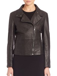 Max Mara Angizia Leather Jacket Black