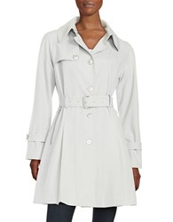 Trina Turk Lillian Pleated Trench Coat Grey