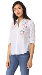 Rails Nevin Embroidered Button Down Floral Embroidery