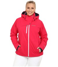 Columbia Plus Size Mile Summit Jacket Ruby Red White Women's Coat