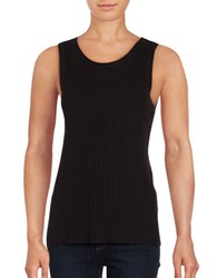 Lord And Taylor Petite Ribbed Sleeveless Top