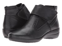 Spring Step Katri Black Leather Women's Pull On Boots