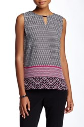 Laundry By Shelli Segal Geo Trio Border Tank Multi