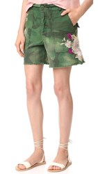 Free People Embroidered Scout Shorts Moss