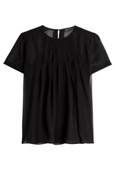 Marc By Marc Jacobs Silk Chiffon Blouse Black