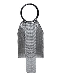 Whiting And Davis Crystal Cascade Fringe Clutch Bag Charcoal