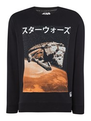 Jack And Jones Star Wars Graphic Crew Neck Sweatshirt Black