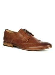 Topman Tan Leather Brogues Brown