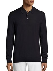 Polo Ralph Lauren Merino Wool And Silk And Cashmere Sweater Navy