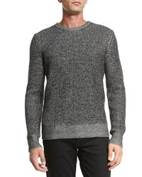 Rag And Bone Rag And Bone Vincent Textured Crewneck Sweater Black Size Small