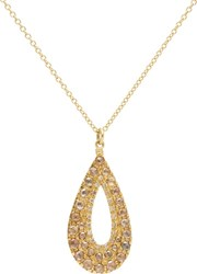Fabrizio Riva Mixed Diamond And Gold Teardrop Pendant Necklace Colorless