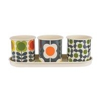 Orla Kiely Big Spot Herb Pot Set Of 3