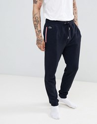 Lacoste Joggers With Cuffed Ankle In Regular Fit Navy